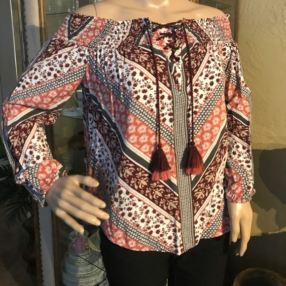 Knox Rose Tops - Boho off the shoulders top